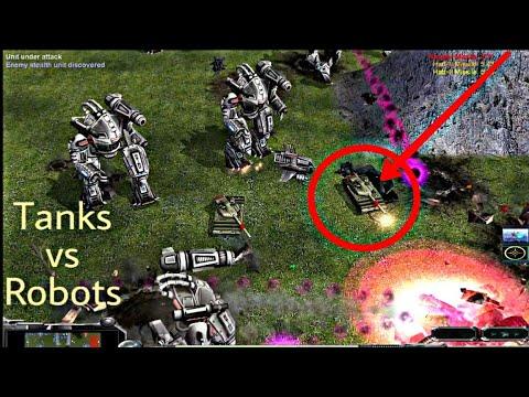 USA Robotic General VS GLA Assault General General | Contra Mod | C&C Zero Hour