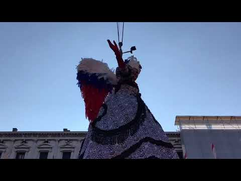 Venice Carnival 2018 : the Flight of the Angel.