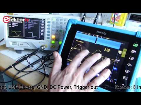 Short Demo: Micsig Tablet Oscilloscope TO1102