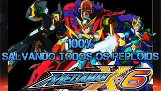 Treinando Speedrun no 100% de Mega Man X6 - Live #375