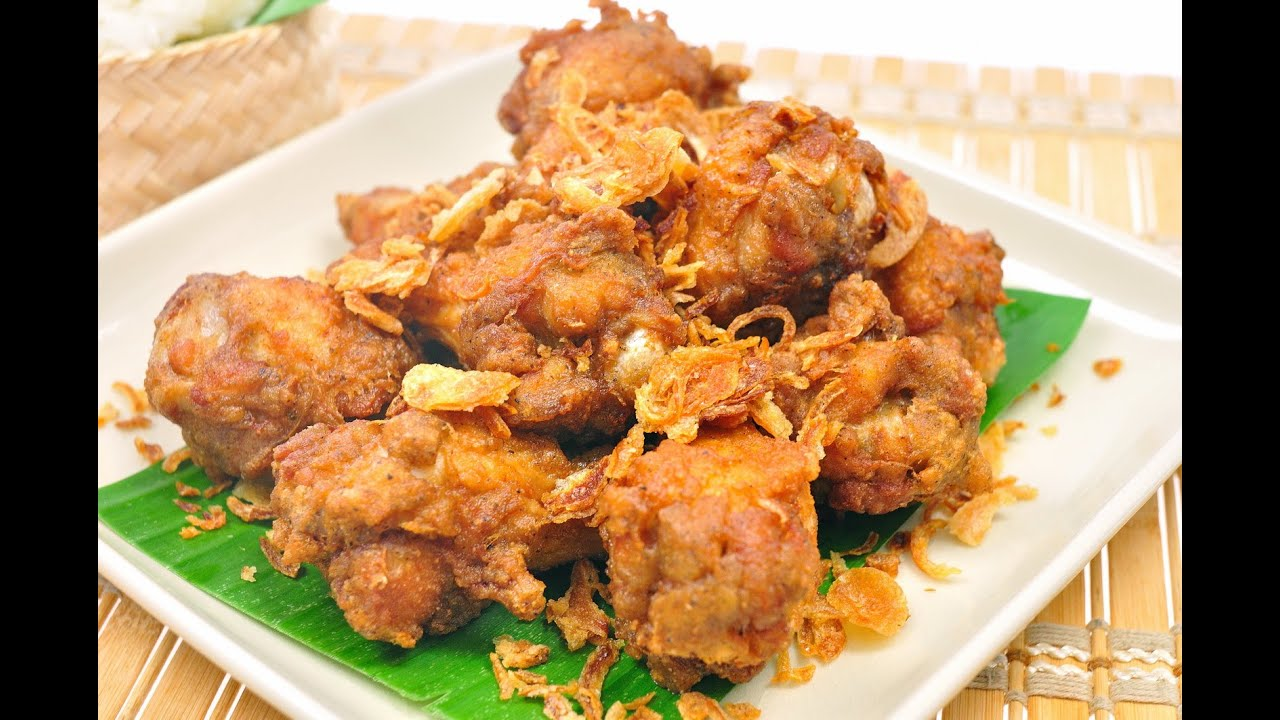 Thai Fried Chicken - Gai Tod (ไก่ทอด) - YouTube