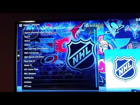 The new NHL STREAMS third-party software for Kodi