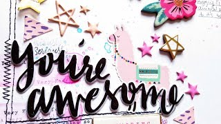 Mixed Media Scrapbooking- **EASY** CRATE PAPER Good Vibes- Hip Kit Club December 2017
