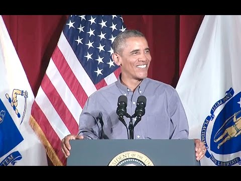The President Speaks at the Labor Day Breakfast in Boston