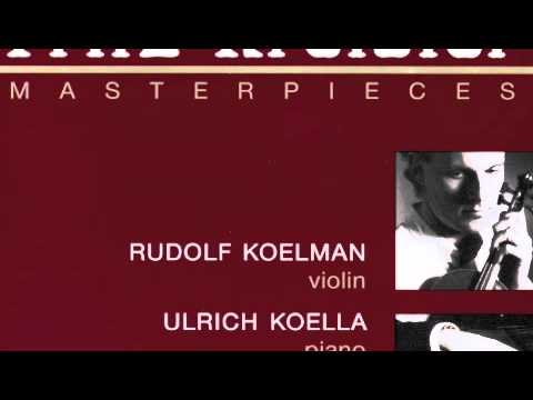 Albéniz Kreisler Tango - Rudolf Koelman , Ulrich Koella