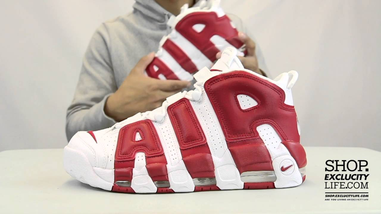 Nike Air More Uptempo White - Gym Red Unboxing Video at Exclucity - YouTube