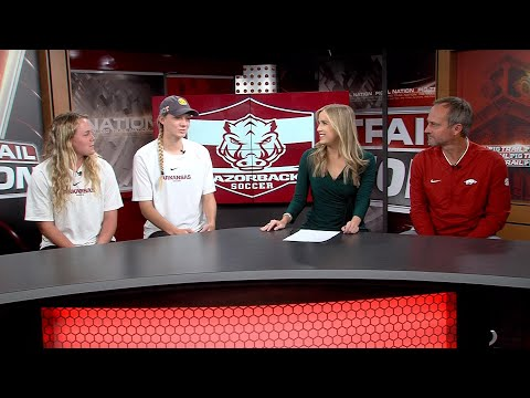 Razorback Soccer In Studio Interview Before Second Round Of 2019 NCAA Tournament
