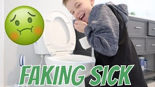FAKING SICK TO SKIP SCHOOL | BUSTED BY PARENTS  | CAUGHT ON CAMERA
