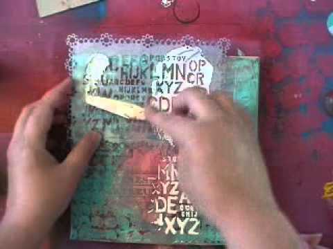 Canvas With Acrylic Paint Gesso And Modeling Paste Youtube
