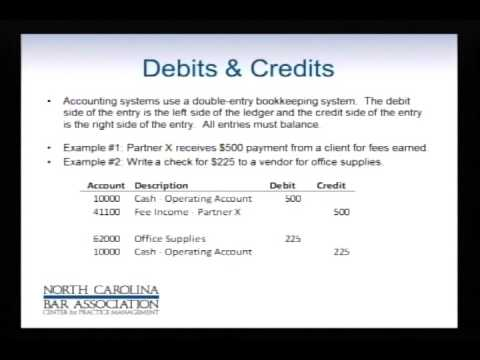 Accounting for Lawyers: 2 Debits and Credits - YouTube