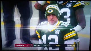 Packers missed last second field goal against Cardinals