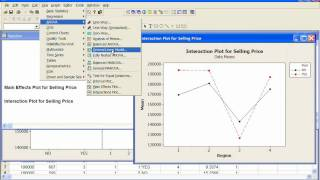 MInitab - basic two-way ANOVA using a general linear model