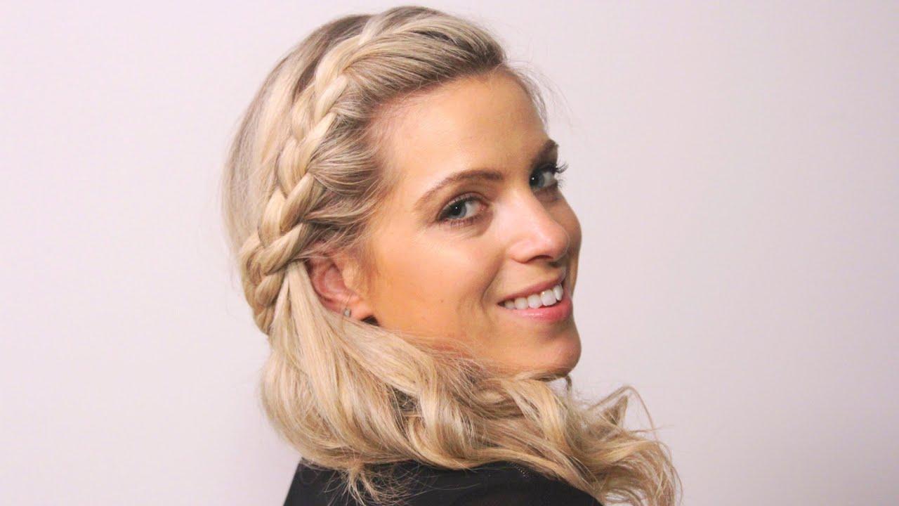 bridesmaid plaited hair