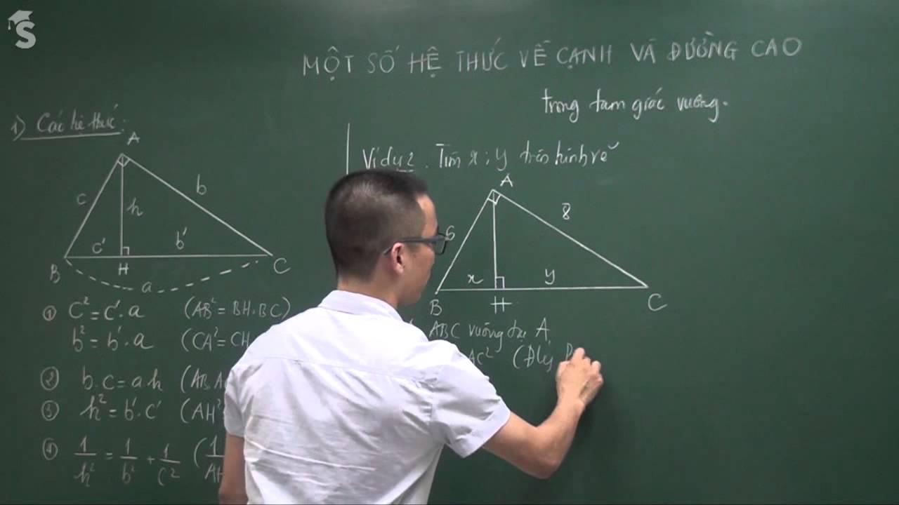 Một số hệ thức về cạnh và đường cao trong tam giác vuông – Thầy Nguyễn Cao Cường