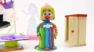 SUPERHEROES BABIES RAINBOW DRESS UP - Stop Motion Play Doh & Clay Animation Cartoons