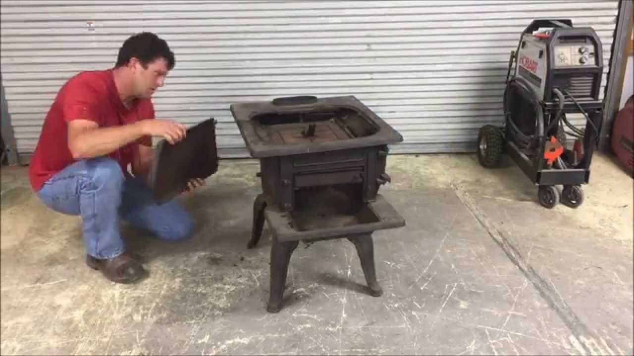 How to MIG Weld Cast Iron on a Wood-Burning Cook Stove - How To MIG Weld Cast Iron On A Wood-Burning Cook Stove - YouTube