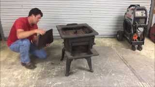 How to MIG Weld Cast Iron on a Wood-Burning Cook Stove