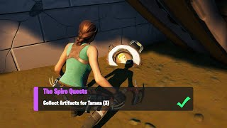 Collect Artifacts for Tarana (3) All Locations - Fortnite The Spire Quests