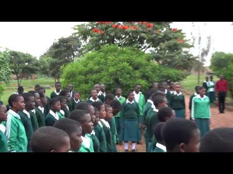 Tanzania Village School Morning Flag March