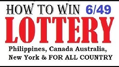 How to win the lottery 6/49 Lotto Jackpot - Guaranteed 100%