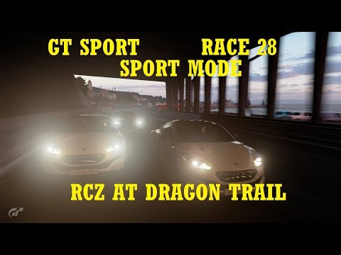 GT Sport - SPORT MODE - Race 28 - RCZs at Dragon Trail