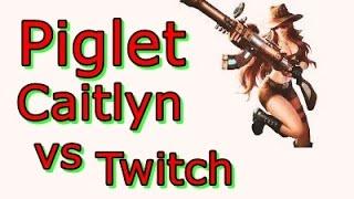 LOL Pro - Piglet Caitlyn vs Twitch - Korea SoloQ (Full game)