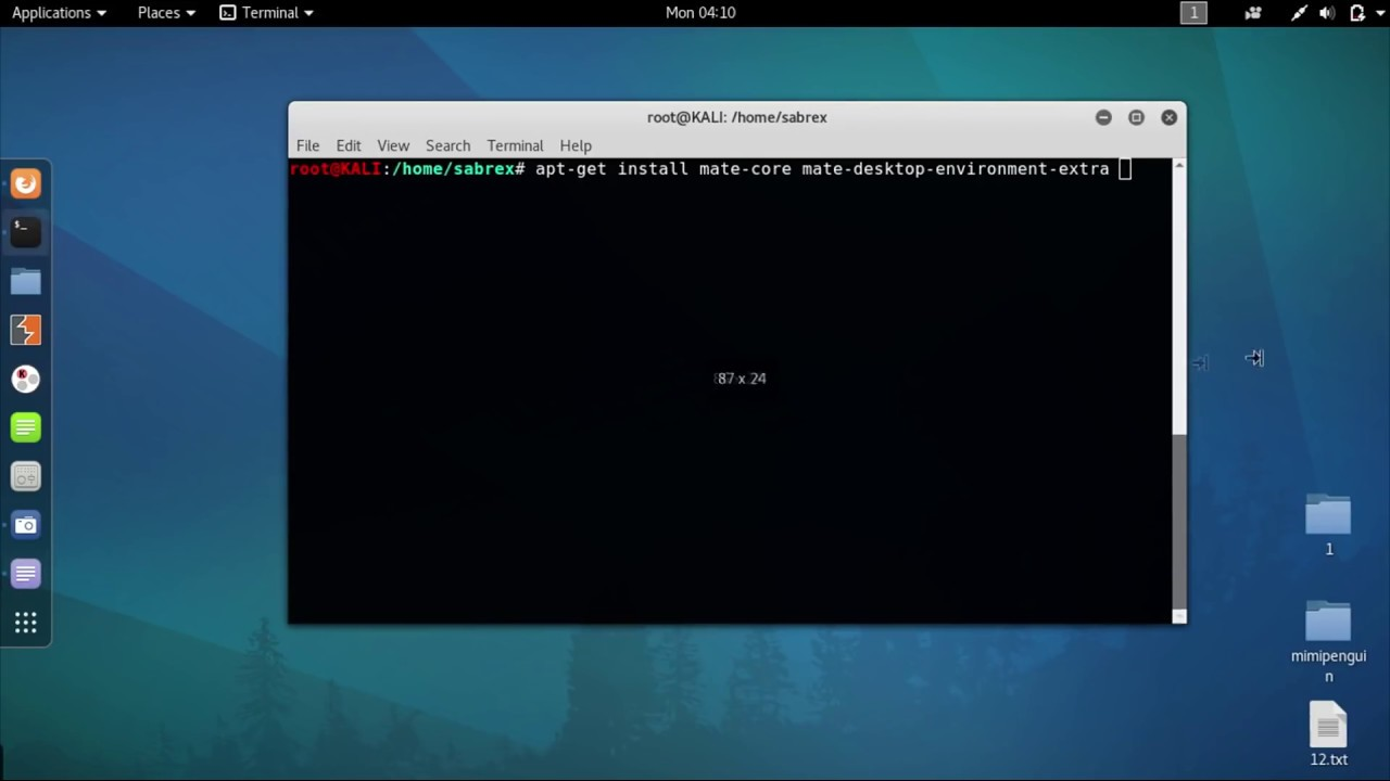 How To Install Mate Desktop in Kali Linux