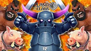 NEW Meta Queen Walk - Pekka - Hog TH12 Attack   Clash of Clans