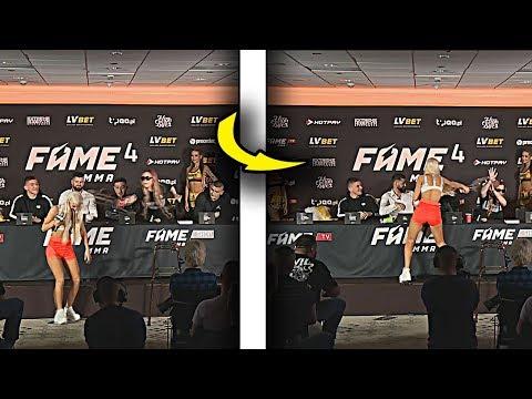 LIL MASTI VS MARTA LINKIEWICZ - NAJLEPSZE MOMENTY - KONFERENCJA FAME MMA 4!! *woda się polała*🔥