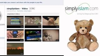 A video message from Umair the Talking Teddy Bear on behalf of simplyislam.com