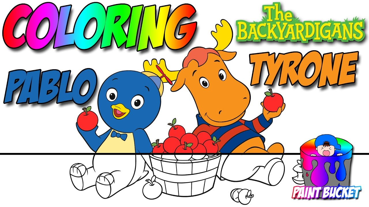 the backyardigans coloring book nickelodeon nick jr coloring pages for kids to learn colors