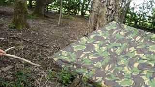 Bushcraft: How to put a tarp up