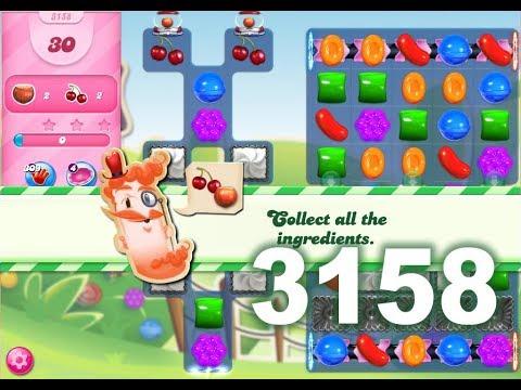 Candy Crush Saga Level 3158 (3 stars, No boosters)