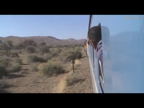 Traveling by train from Swakopmund to Windhoek