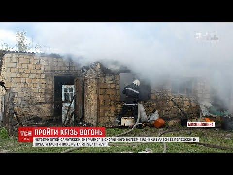 ТСН: На Миколаївщині діти самостійно врятувались із пожежі та допомагали її гасити