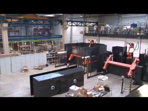 ABB Robotics - Timelapse Of A FlexArc Robotic Welding Cell Being Built