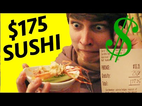 $4 Sushi VS. $175 DOLLAR SUSHI