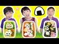 ★「ハロウィンお弁当作り対決~!」おばけおにぎり登場!★halloween Box Lunch Cooking★