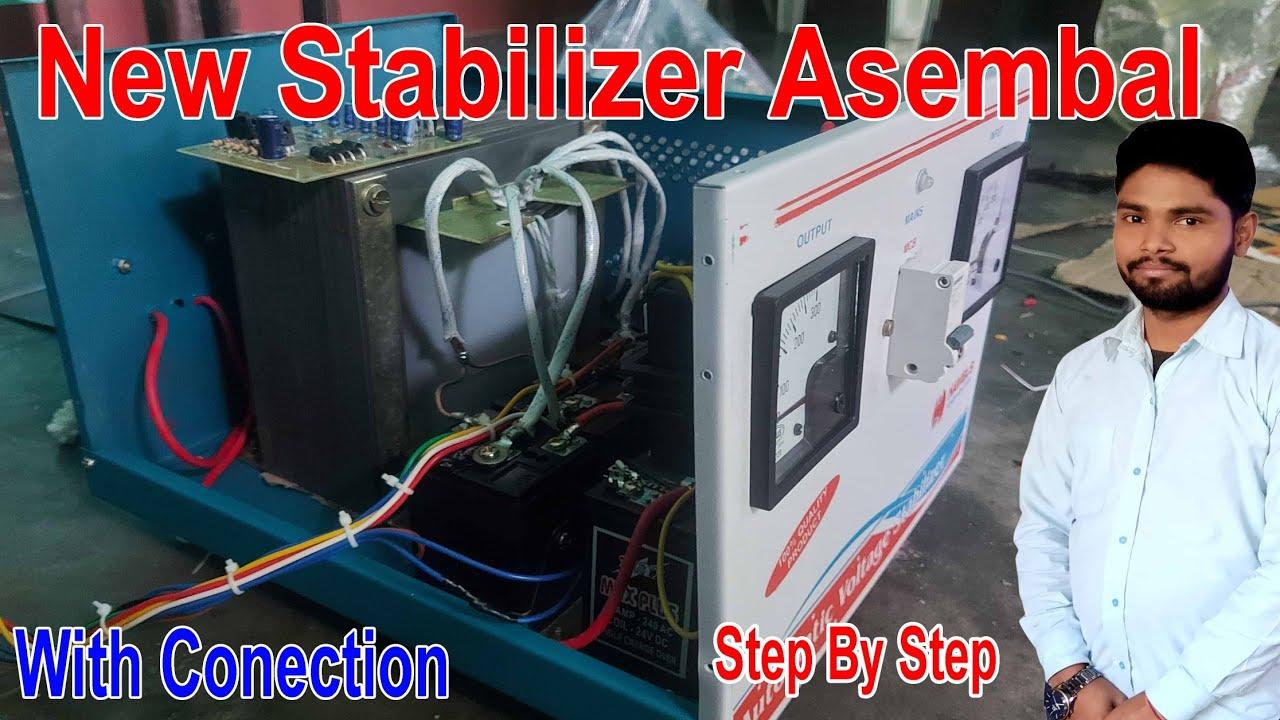 Stabilizer All Part fittings in hindi || 100% Prectical नया स्टेपलाइजर बनाये अपने घर पर