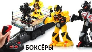 Игрушка боксёры роботы на ринге