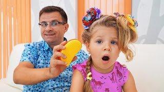 Диана и Папа одни дома Видео для детей / Papa Left Alone With Diana video for kids