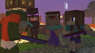 Skyblock War: Part3 - Minecraft Animation | Noob & Brothers Series