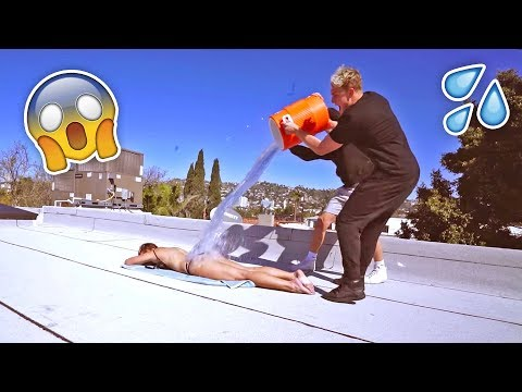 Thumbnail: TANNING GIRL ICE WATER PRANK