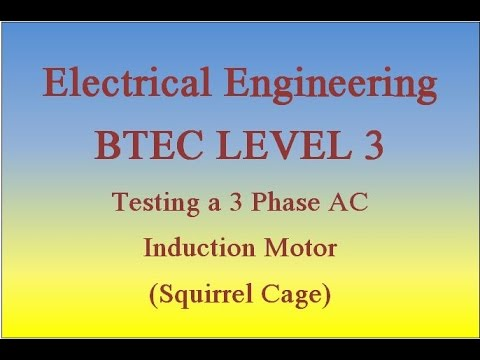 Ac induction motor winding balance test of a 3 phase ac for How to check 3 phase motor