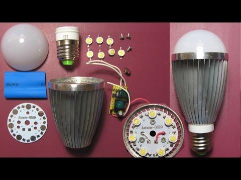 Обзор + собираем LED лампу конструктор (Silver-White 7W 300mA High-Power LED DIY Kit)