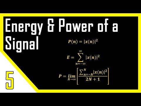 Energy and Power of a Signal | Digital Signal Processing