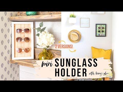 DIY Sunglasses Holder — 2 Versions [No Power Tools!] - YouTube