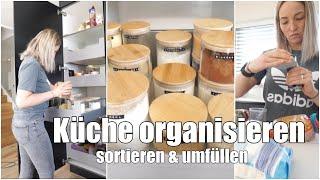 Küche organisieren I einheitliche Vorratsgläser I Vorher & Nachher