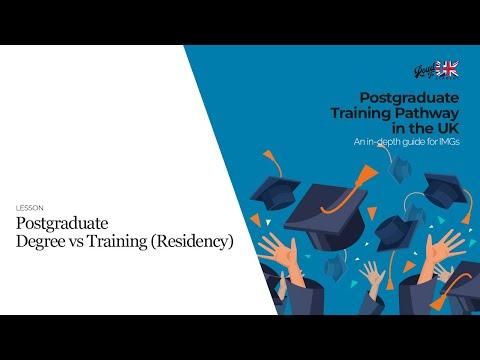 Postgraduate degree vs training (residency) in the UK for doctors | MD/MS vs Specialty Training