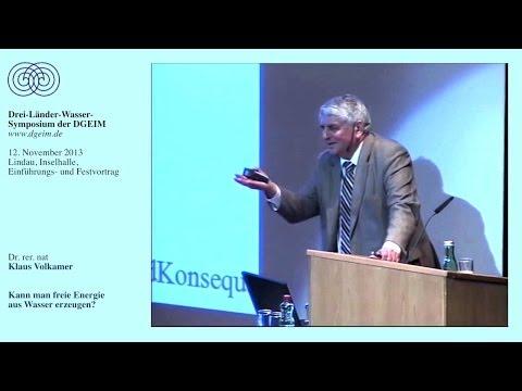 Dr. Klaus Volkamer: Kann man freie Energie aus Wassererzeugen?